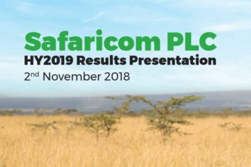 Get Safaricom Half Year Results for Financial 2018, 2019 (Net income Summary) and full pdf