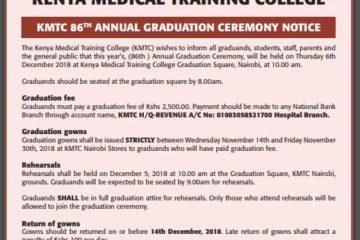 KMTC 86th Graduation Ceremony for December 2018