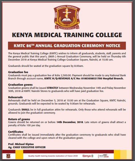 KMTC 86th Graduation Ceremony for December 2018