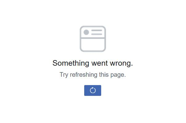 Update on Facebook Error Something went wrong, Try refreshing this page (November 2018)