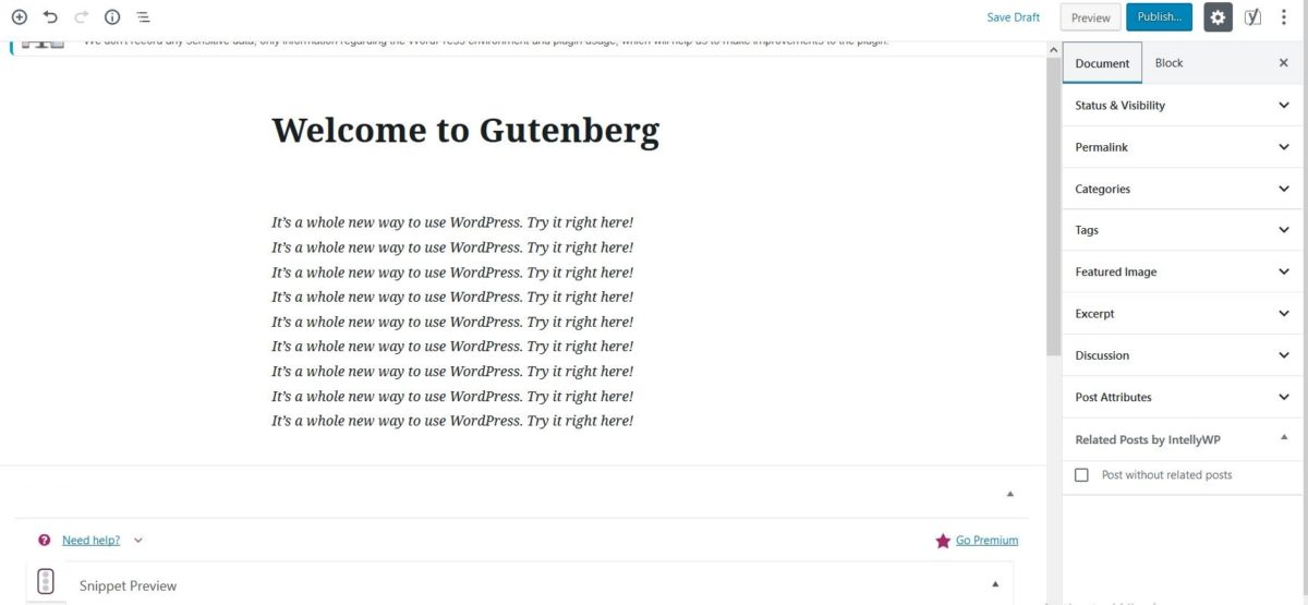 A detailed Overview of Wordpress 5.0 Gutenberg Update, errors, SEO effects