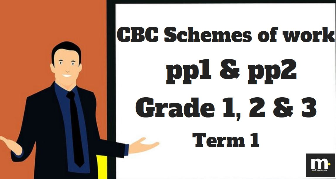 Download Term 1 CBC schemes of Work pdf, Grade 1, 2, 3, PP1, PP2