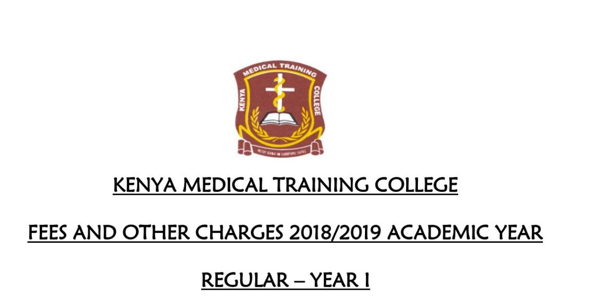 An update on 2019 KMTC fee structure for regular (government) and self sponsored (private) students