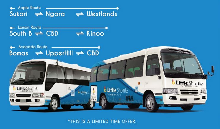 A guide on how to book Little shuttle bus seat in kenya and bus stages or Pickup locations in Nairobi
