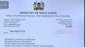 When schools be closing for first term 2019 in Kenya, ministry of education dates