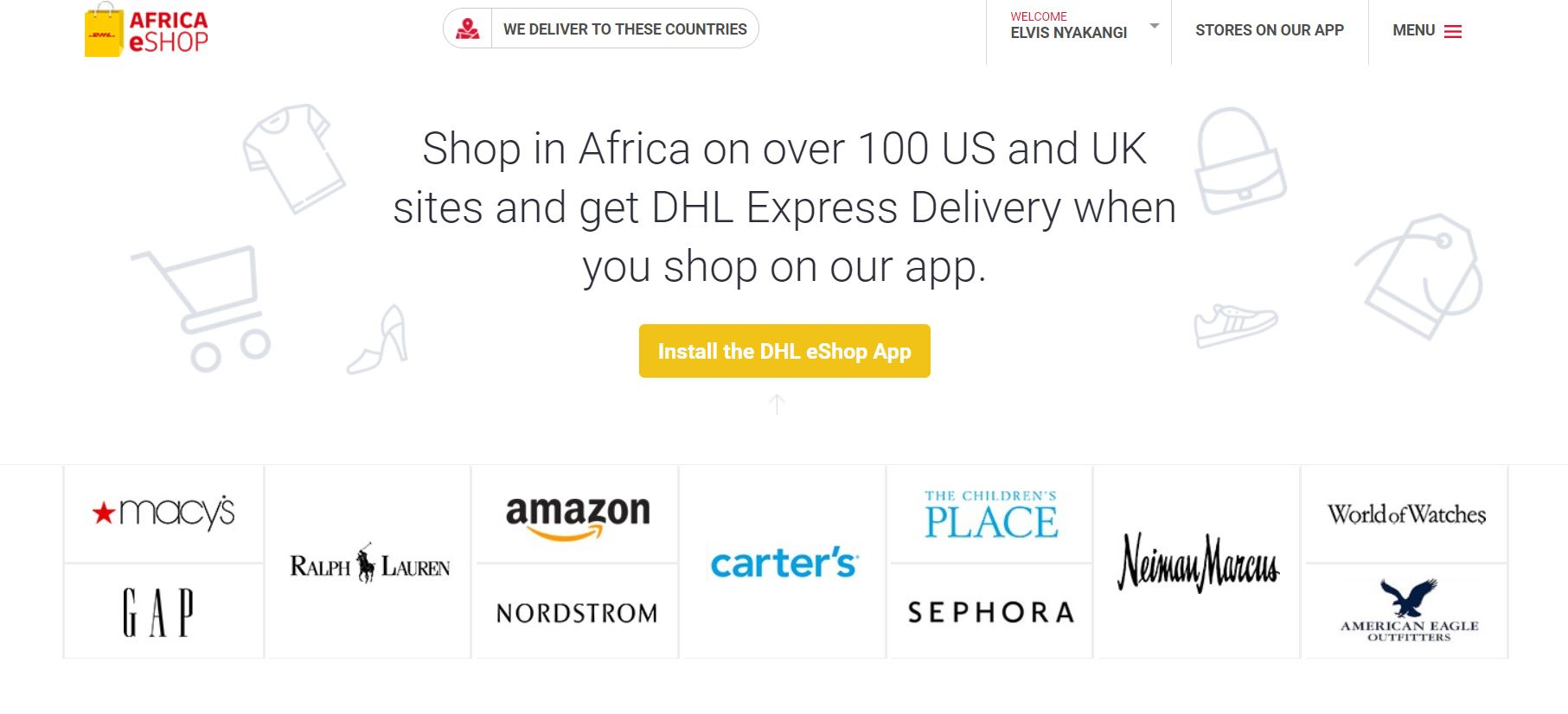 DHL Eshop, a platform of buying products from UK and US top stores like Amazon, Ebay e.t.c