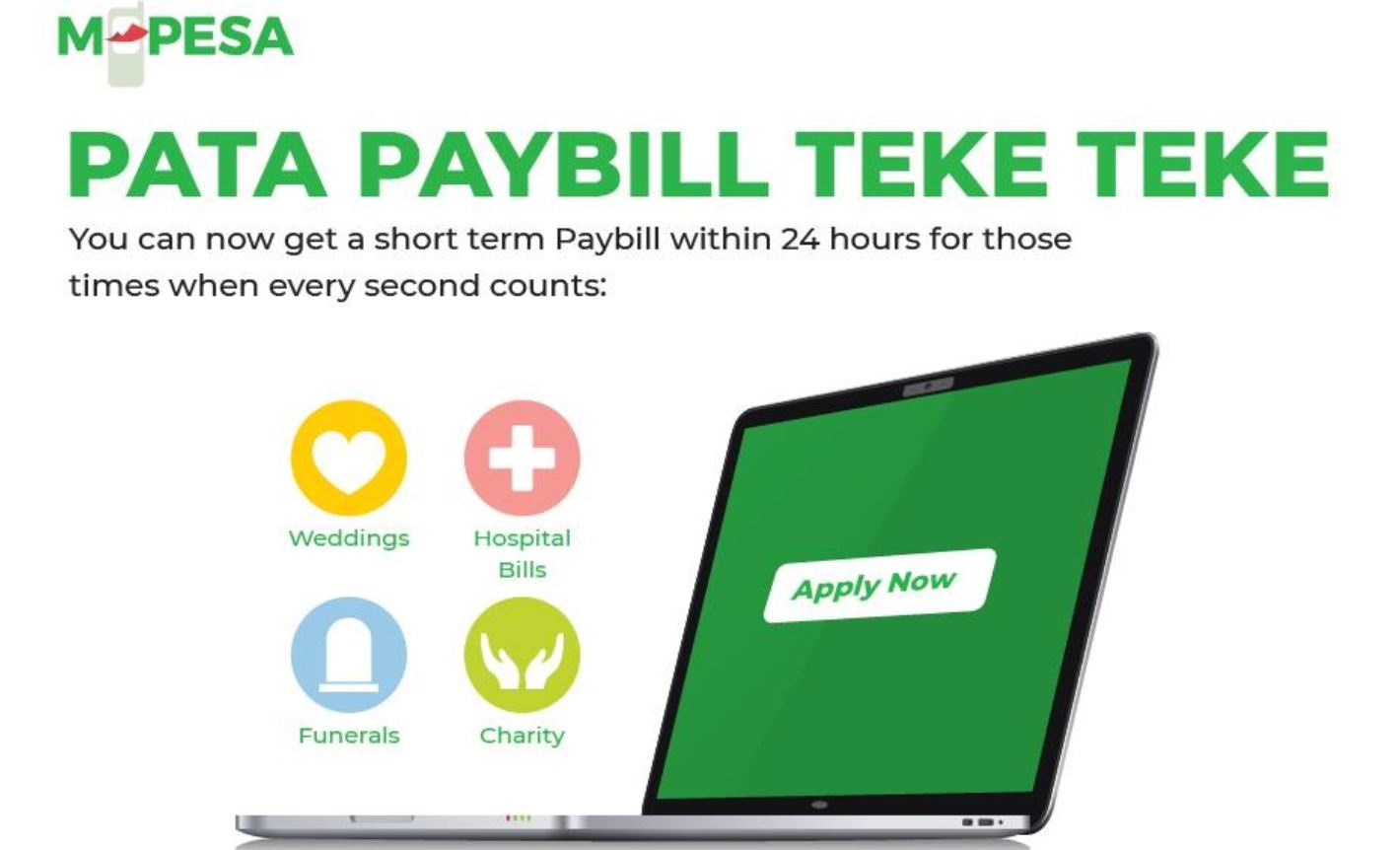 Guide on How to apply for Mpesa Short Term Paybill Number Online for fundraising