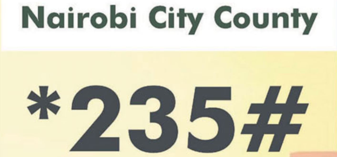 Paying for Nairobi county revenue through 235 for car parking, business permit renewals, land rates, rent
