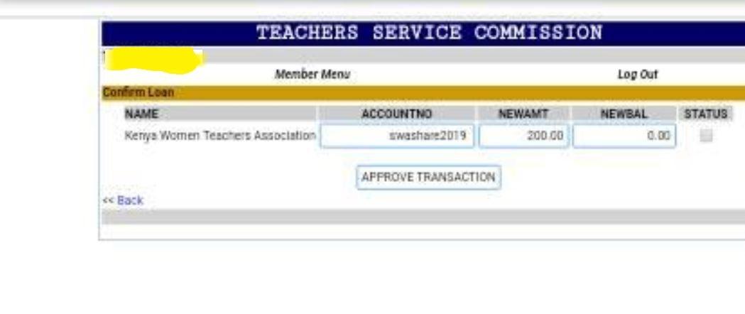 TSC Kenya Women Teachers Association payslip payment menu