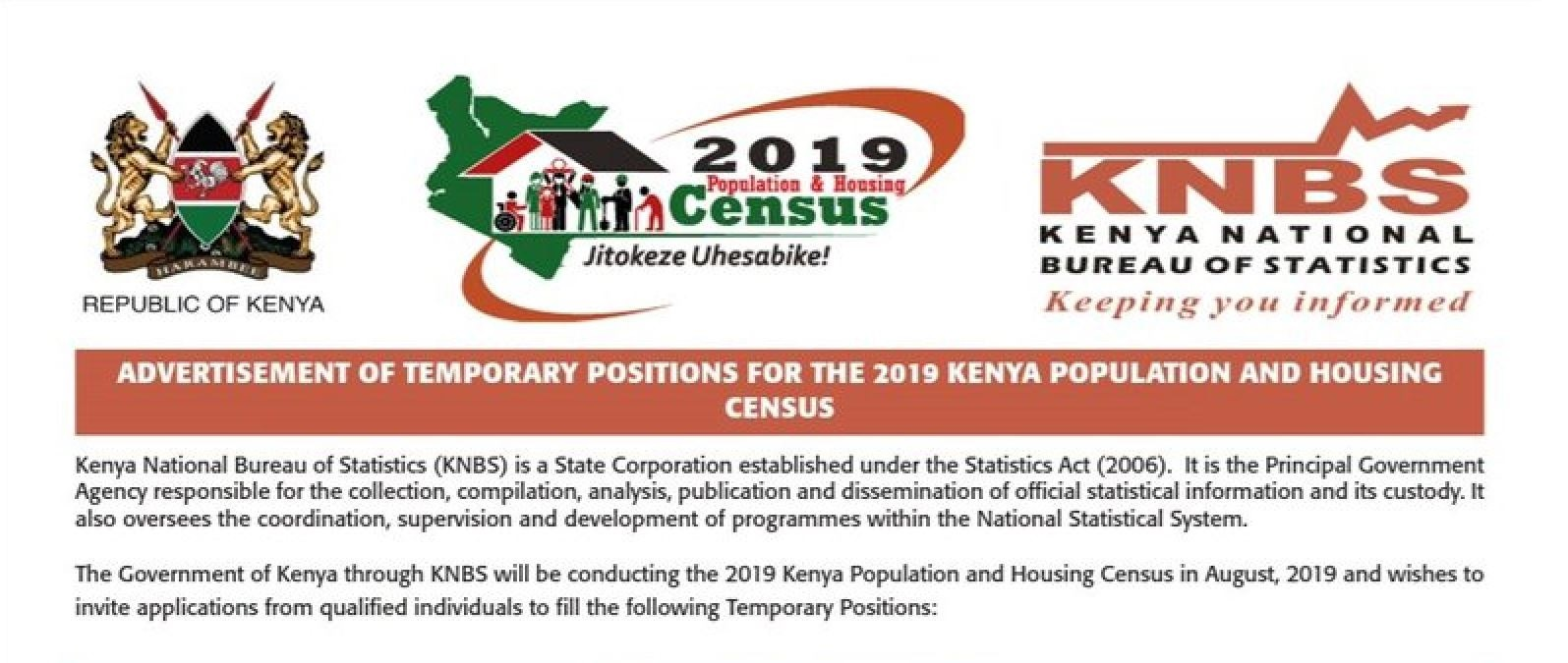 Image result for census Jobs in Kenya