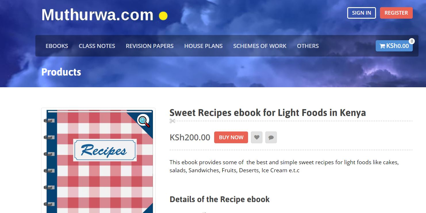 write and sell your food recipes online in kenya at muthurwa marketplace