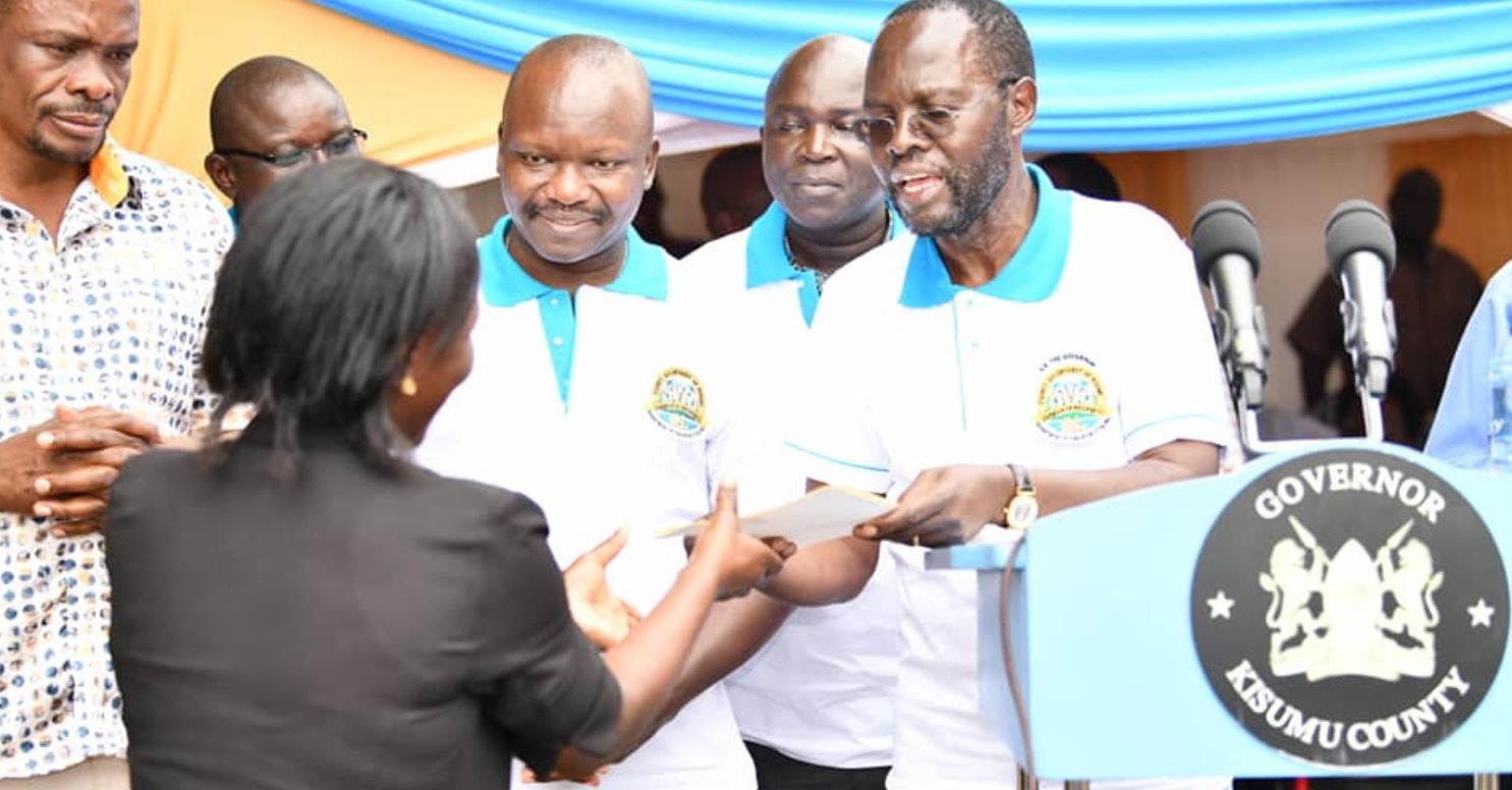 Kisumu County ECD Teachers receiving double salary increase from Governor Anyang Nyongo
