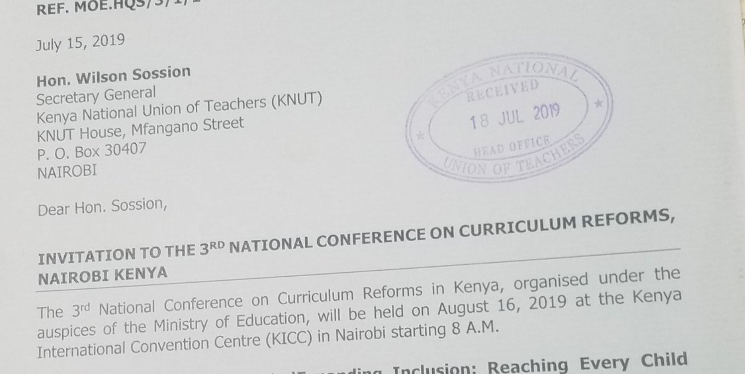 KNUT SG Wilson Sossion to CBC Training Conference at KICC