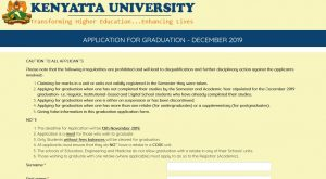 procedure of how to apply for Kenyatta University Graduation ceremony online