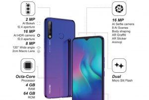 Tecno Camon 12 Price in kenya and Specifications, gsmarena